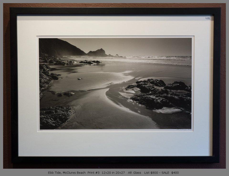 Ebb Tide, McClures Beach  Print #3  12x20 in 20x27   AR Glass