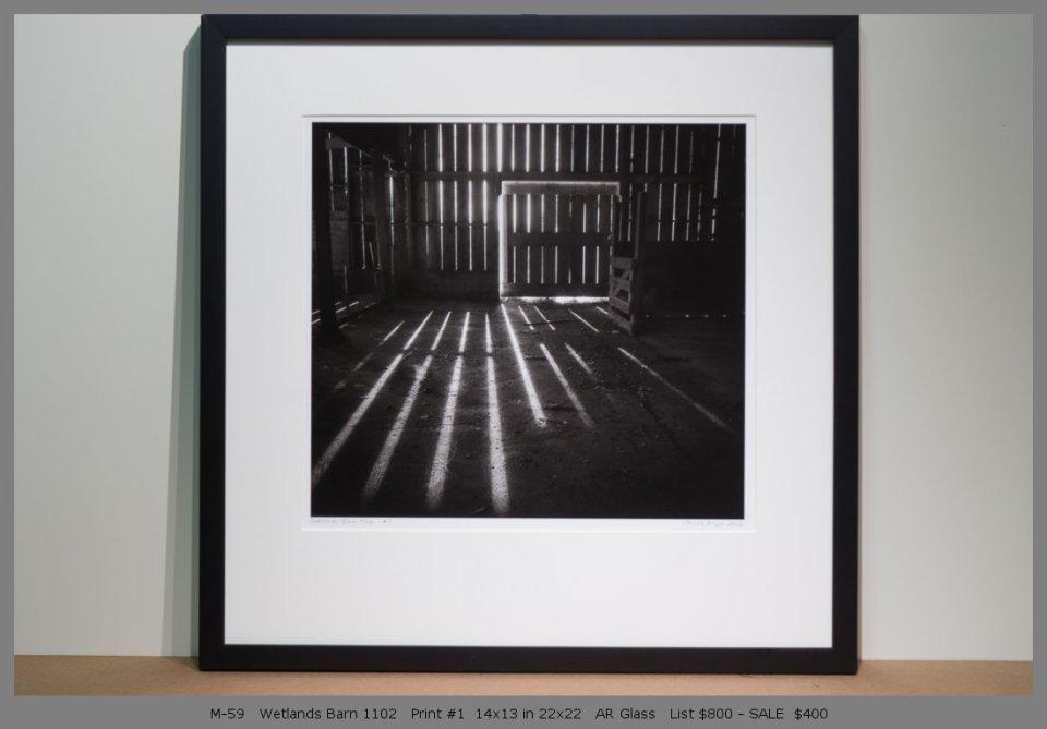 M-59   Wetlands Barn 1102   Print #1  14x13 in 22x22   AR Glass