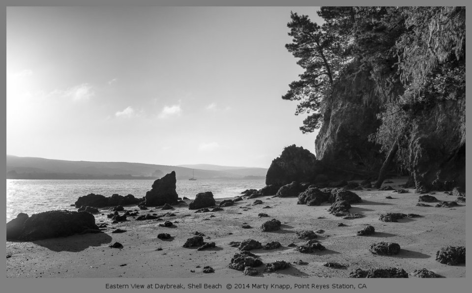 Eastern View at Daybreak, Shell Beach