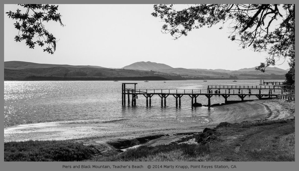 Piers and Black Mountain, Teacher's Beach